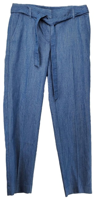Item - Blue Chambray Waist Tie Ankle Pants Size 2 (XS, 26)