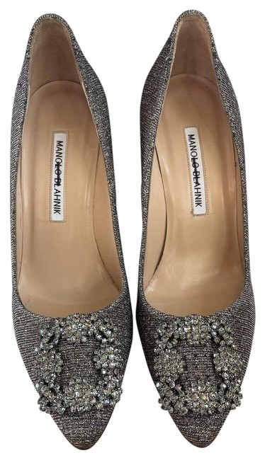 Item - Gold/Silver Hangisi 105 Embellished Shimmer Pumps Size EU 37 (Approx. US 7) Regular (M, B)