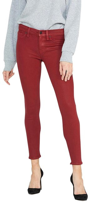 Item - Red Coated Nico Mid Rise Super Ankle Skinny Jeans Size 2 (XS, 26)