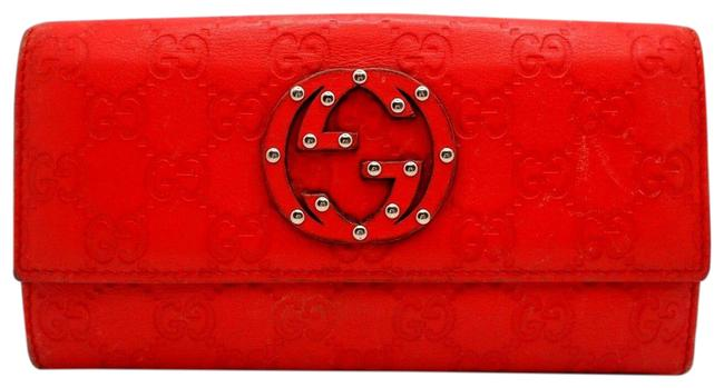 Item - Red Soho Studded Wallet