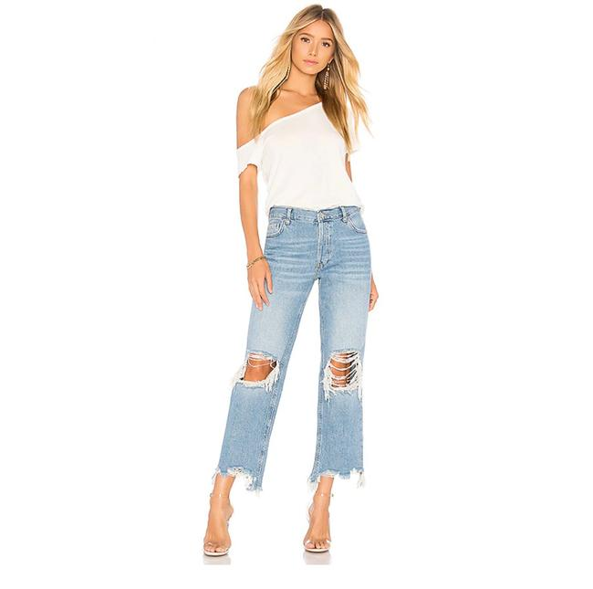 Item - Blue Light Wash Maggie Straight In Denim Relaxed Fit Jeans Size 8 (M, 29, 30)