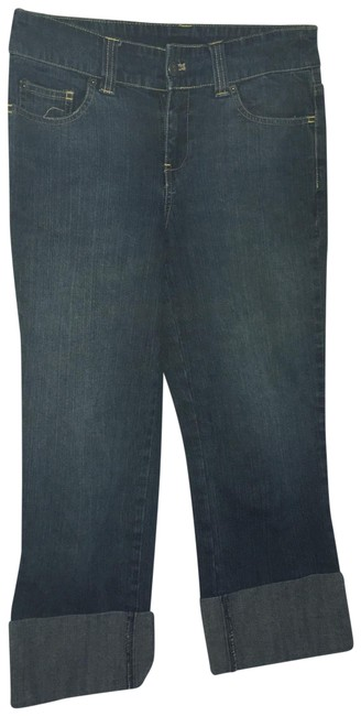 Item - Blue Denim Cropped Stretch Jeans Capris Size 4 (S, 27)