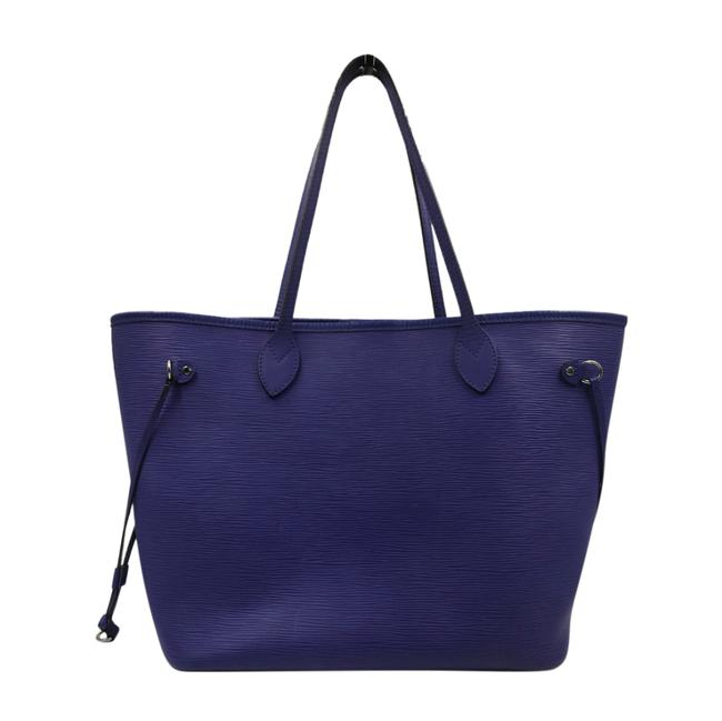 Louis Vuitton Neverfull Mm Purple Epi Leather Tote Louis Vuitton Neverfull Mm Purple Epi Leather Tote Image 1