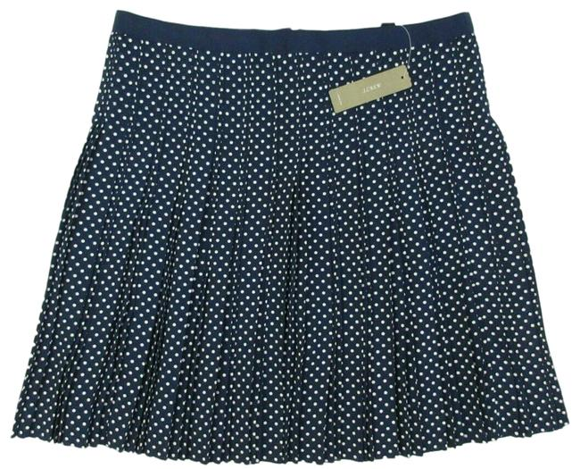 Item - Navy Blue & White Polka Dot Pleated Chic Stitched-down Skirt Size 8 (M, 29, 30)