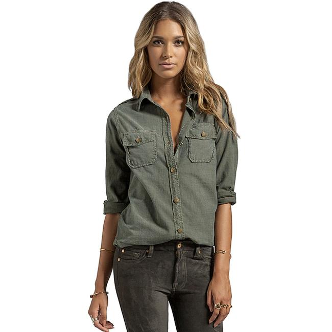Item - Green Current/Elliot The Perfect Shirt Army   1 Button-down Top Size 2 (XS)