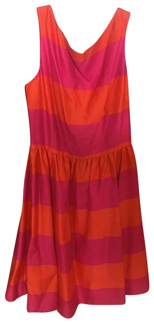 Item - Fuchsia and Tangerine - Carolyn Mid-length Cocktail Dress Size 12 (L)