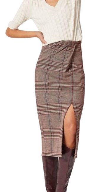Item - Brown Red Maeve Brennan Plaid Skirt Size 16 (XL, Plus 0x)