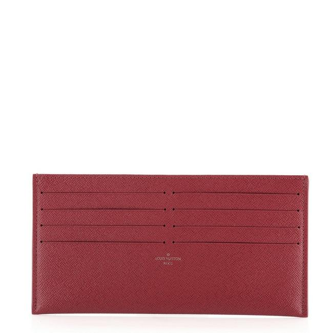Item - Red Felicie Card Holder Insert Leather Wallet