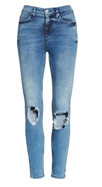 Item - Blue Acid Ripped Knee Faded Skinny Jeans Size 26 (2, XS)
