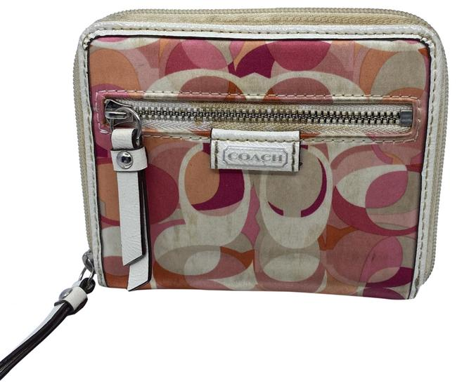 Item - Pink W Cute Signature C Small Change Spot Wallet