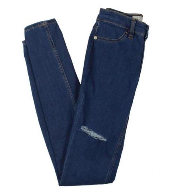 Item - Blue Dark Rinse Destroyed Stretchy Skinny Jeans Size 27 (4, S)