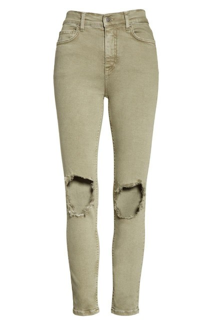Item - Moss Light Wash Ripped Knee Stretchy Ankle Skinny Jeans Size 26 (2, XS)