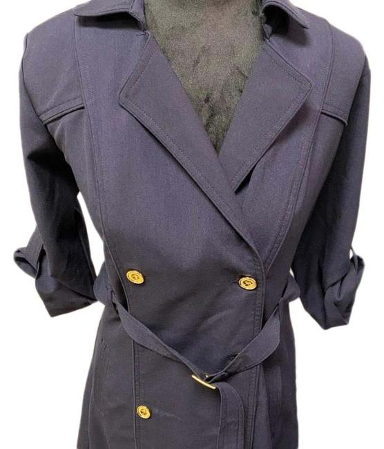 Item - Navy Doublebreasted Belted Mid-length Work/Office Dress Size 6 (S)