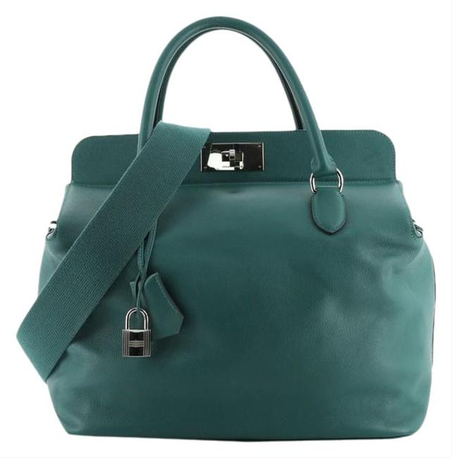 Item - Toolbox Evercolor 33 Green Leather Satchel
