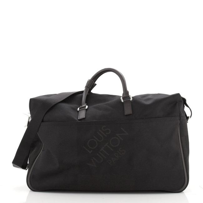 Item - Duffle Albatros Geant Geant Black Coated Canvas Weekend/Travel Bag