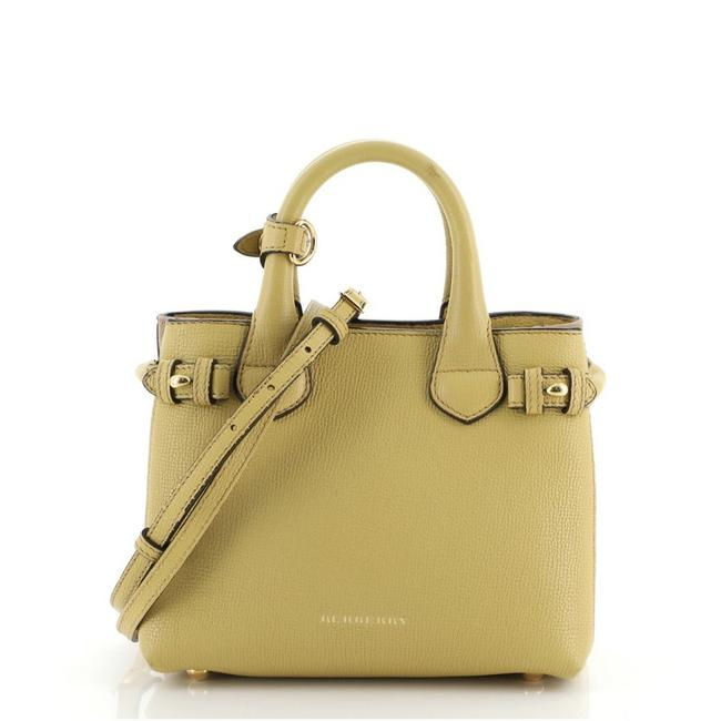 Item - Banner and House Check Canvas Mini Yellow Leather Tote
