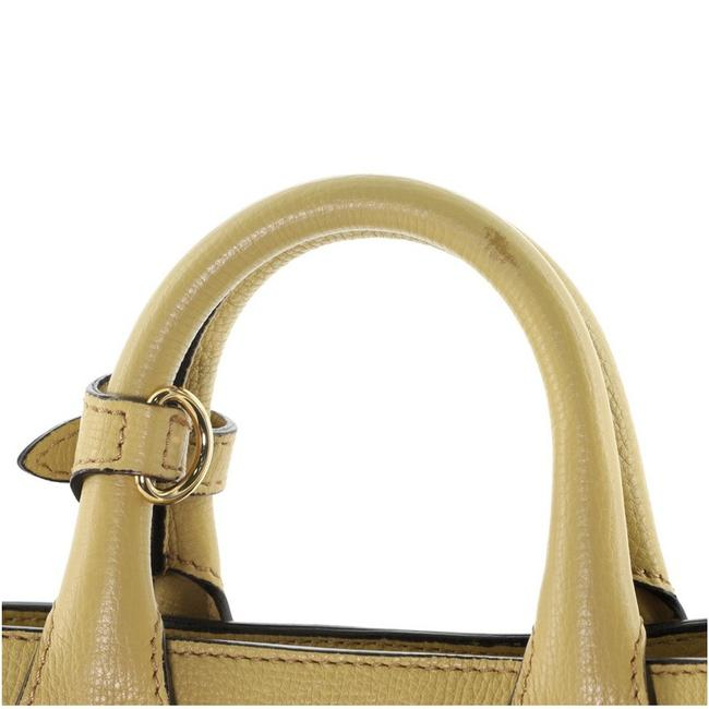 Burberry Banner and House Check Canvas Mini Yellow Leather Tote Burberry Banner and House Check Canvas Mini Yellow Leather Tote Image 9