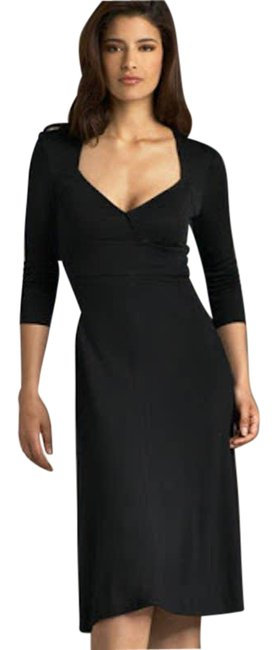 Item - Black Sweetheart Neck A-line Midi Mid-length Formal Dress Size 10 (M)