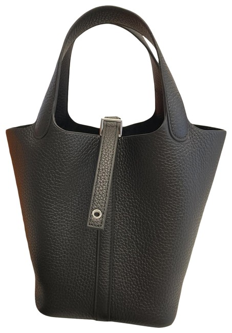 Item - Picotin Pm Clemence Noir - Full Set Black Taurillon Leather Hobo Bag