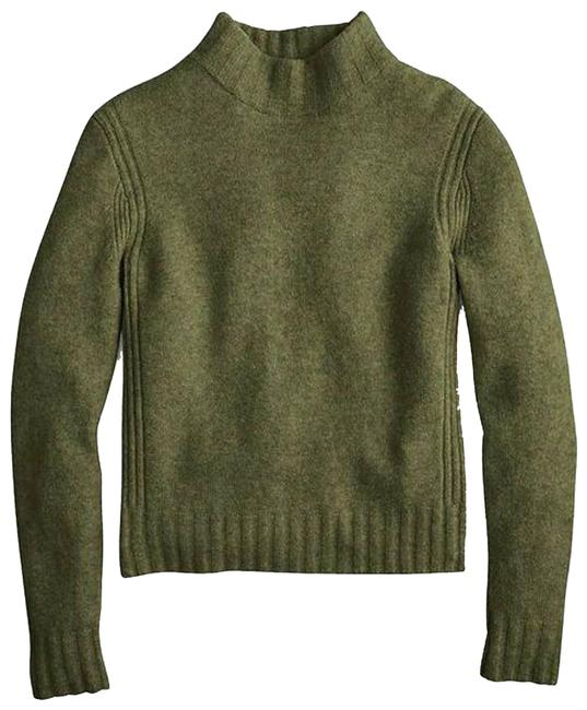 Item - XS Mock Neck Supersoft Yarn Size Green Sweater