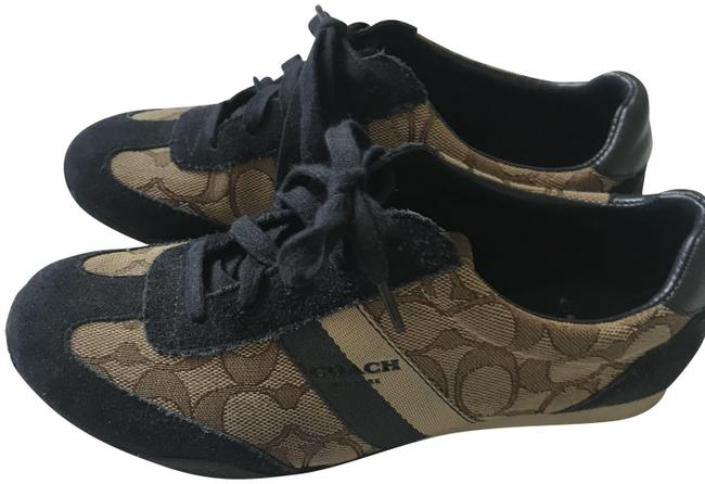 Item - Brown with Navy Trim Sneakers Size US 6 Regular (M, B)