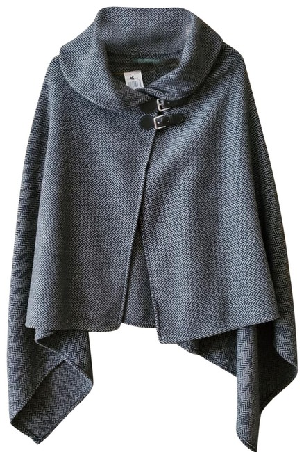 Item - Dk Gray Wool Poncho/Cape Poncho/Cape Size OS (one size)
