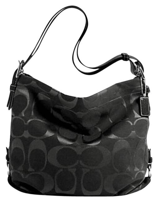 Coach Duffle Signature Black Cross Body Bag Coach Duffle Signature Black Cross Body Bag Image 1