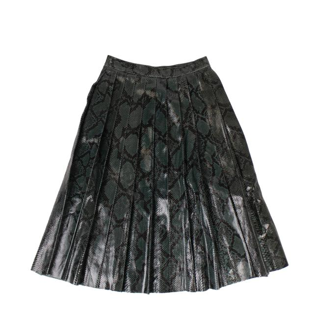 Item - Green Women's Python Pleated Skirt Size 2 (XS, 26)
