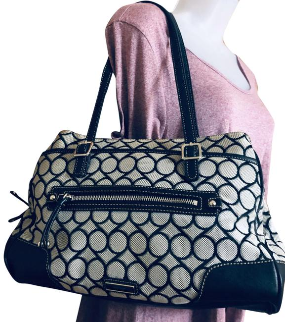 Item - Bag / Faux Leather Grey Canvas Tote
