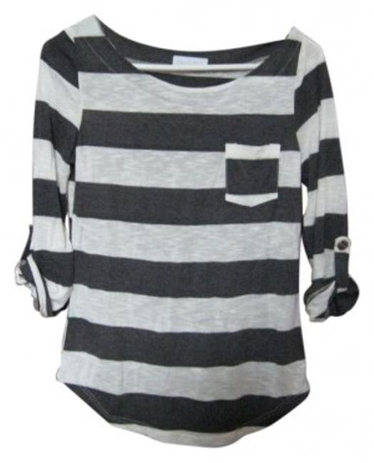 Gabriella Rocha T Shirt charcoal/white stripes