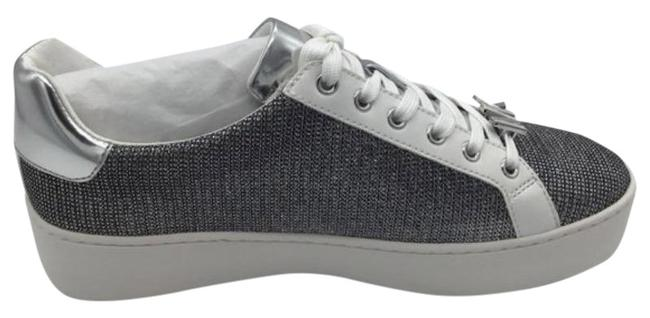 Item - Silver Poppy Lace Up Glitter Chain Mesh Sneakers Size US 8.5 Regular (M, B)