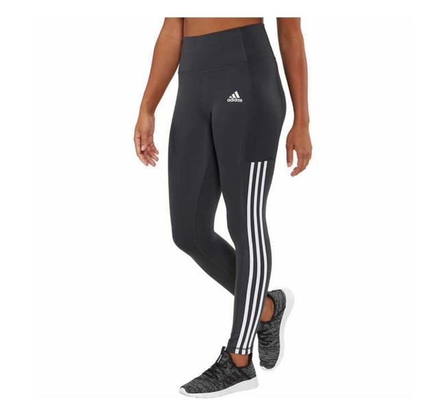 Item - Charcoal Grey 7/8 3-stripe Active Tight Activewear Bottoms Size 8 (M)
