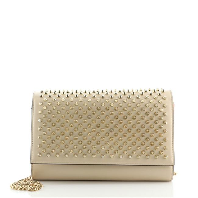 Item - Clutch Paloma Spiked Neutral Leather Metal Cross Body Bag