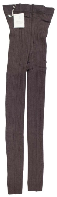 Item - Brown Ribbed Cashmere Blend Footless Tights Leggings Size 8 (M, 29, 30)