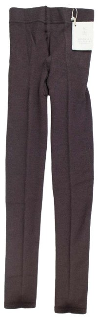 Item - Brown Cashmere Blend Footless Tights Leggings Size 12 (L, 32, 33)