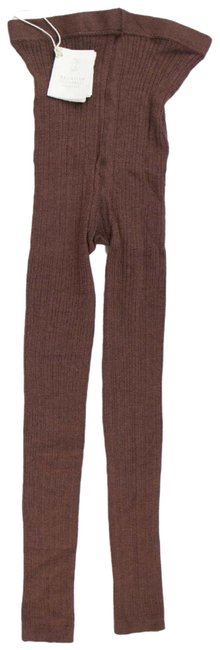 Item - Brown Ribbed Cashmere Blend Footless Tights Leggings Size 4 (S, 27)