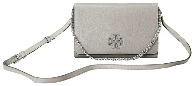 Item - Crossbody Britten Large (73507) French Gray Pebbled Leather Clutch