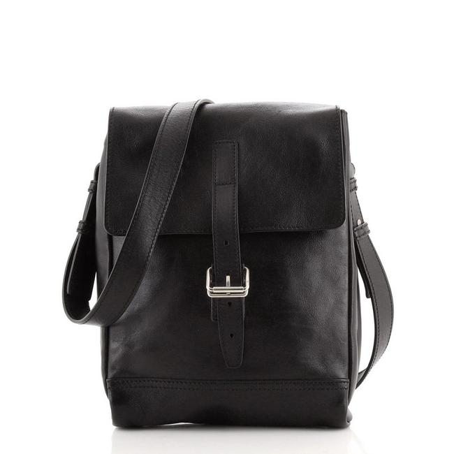 Item - Belted Small Black Leather Messenger Bag