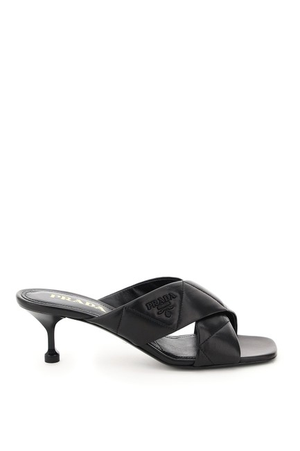 Item - Black Quilted Nappa Mules/Slides Size EU 37 (Approx. US 7) Regular (M, B)