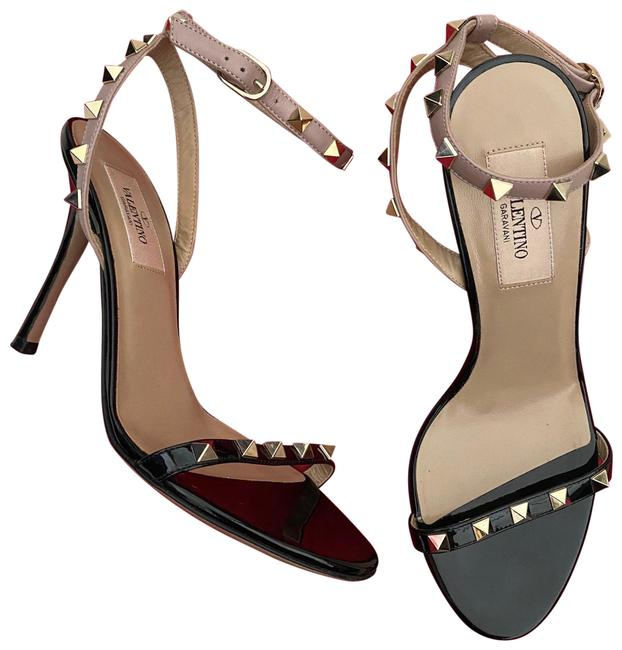 Item - Black and Poudre Rockstud Sandals Size EU 36.5 (Approx. US 6.5) Regular (M, B)