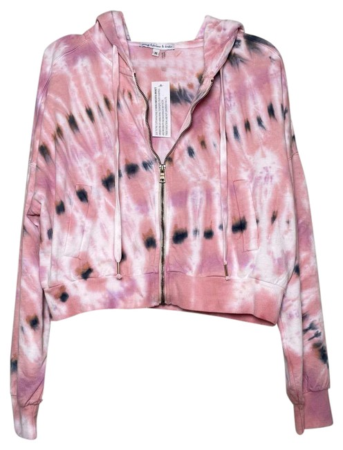 Item - Pink Cropped Zip Up Tie Dye Activewear Outerwear Size 8 (M)