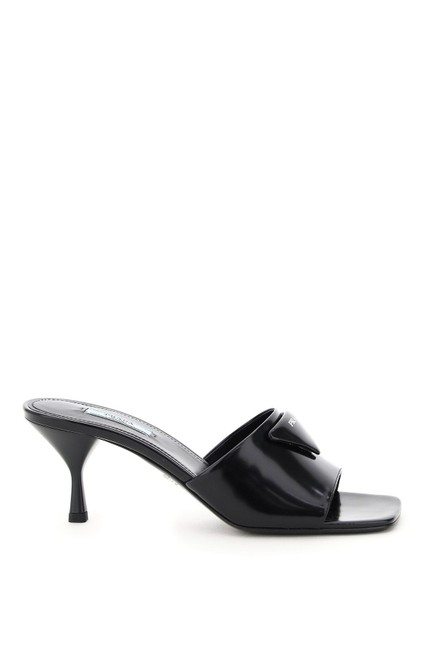 Item - Black Triangle Mules/Slides Size EU 38 (Approx. US 8) Regular (M, B)