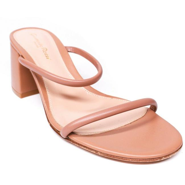 Item - Beige Two Strap Chunky Heels Leather 8 - Sandals Size EU 38 (Approx. US 8) Regular (M, B)