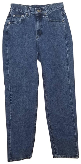 Item - Blue Medium Wash Vintage Lee Riveted High Rise 8 Relaxed Fit Jeans Size 32 (8, M)