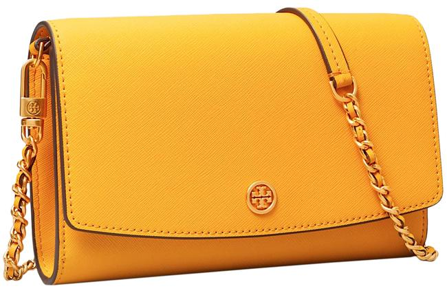 Item - Robinson Wallet On A Chain Yellow with Tag Leather Cross Body Bag