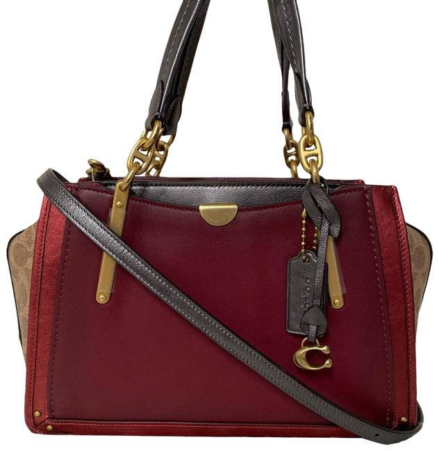 Item - New Dreamer with Signature Canvas Blocking Red Satchel
