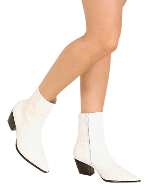 Item - White Caty Boots/Booties Size US 7 Regular (M, B)