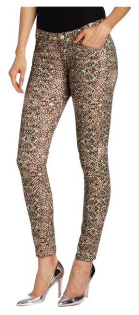 Item - Brown Mosaic Snake Print Fw0150226a Skinny Jeans Size 25 (2, XS)