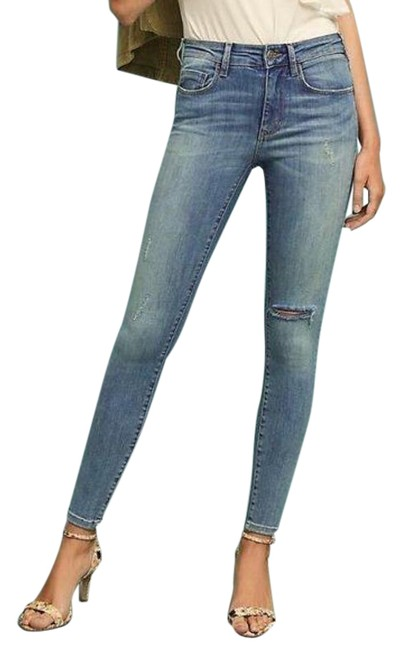 Item - Pilcro and The Letterpress Blue Distressed High-rise Skinny Jeans Size 25 (2, XS)