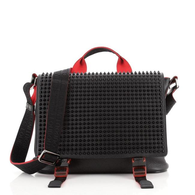 Item - Loubiclic Studded Black Red Leather Messenger Bag